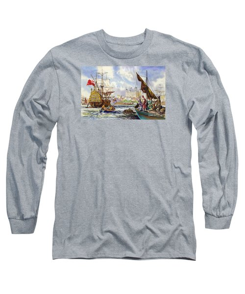 The Tower Of London In The Late 17th Century  Long Sleeve T-Shirt by English School