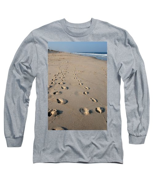 The Trails Of Footprints - Jersey Shore Long Sleeve T-Shirt