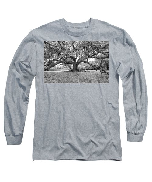 The Tree Of Life Monochrome Long Sleeve T-Shirt by Steve Harrington