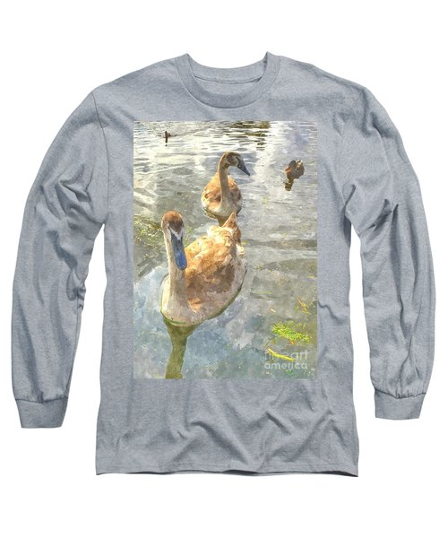 The Two Cygnets Long Sleeve T-Shirt