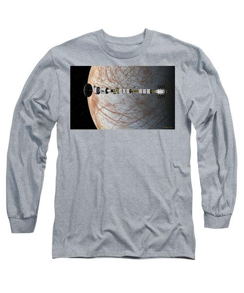 The Uss Savannah In Orbit Around Europa Long Sleeve T-Shirt