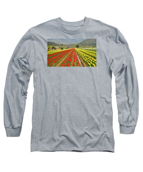 The Valley Blooms Long Sleeve T-Shirt by Fotosas Photography