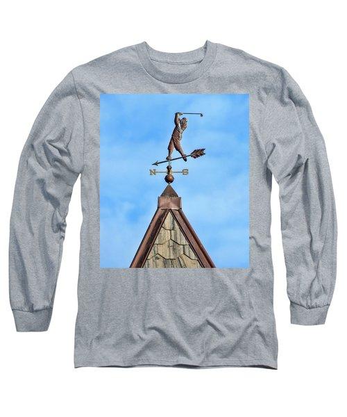 The Vane Golfer Long Sleeve T-Shirt by Gary Slawsky
