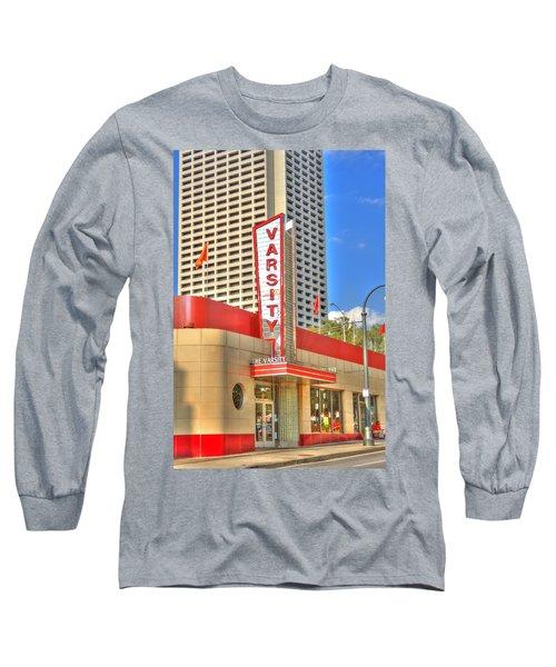 The Varsity Frontdoor Atlanta Georgia Landmark Art Long Sleeve T-Shirt