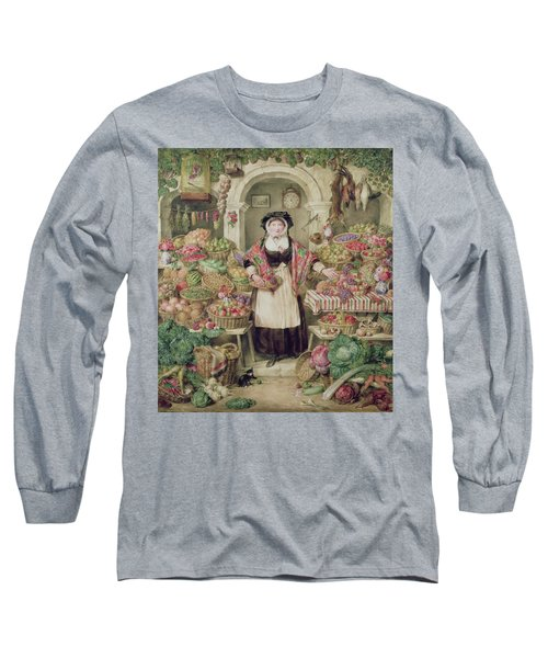 The Vegetable Stall  Long Sleeve T-Shirt by Thomas Frank Heaphy