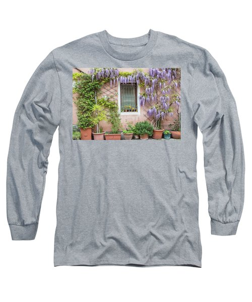 The Venice Italy Window  Long Sleeve T-Shirt