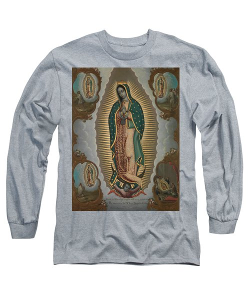 The Virgin Of Guadalupe With The Four Apparitions Long Sleeve T-Shirt