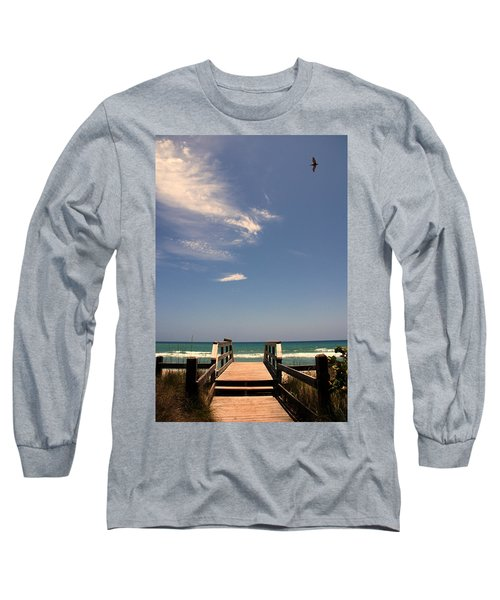 The Way Out To The Beach Long Sleeve T-Shirt by Susanne Van Hulst
