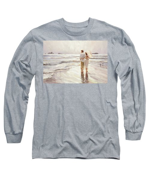 Long Sleeve T-Shirt featuring the painting The Way That It Should Be by Steve Henderson