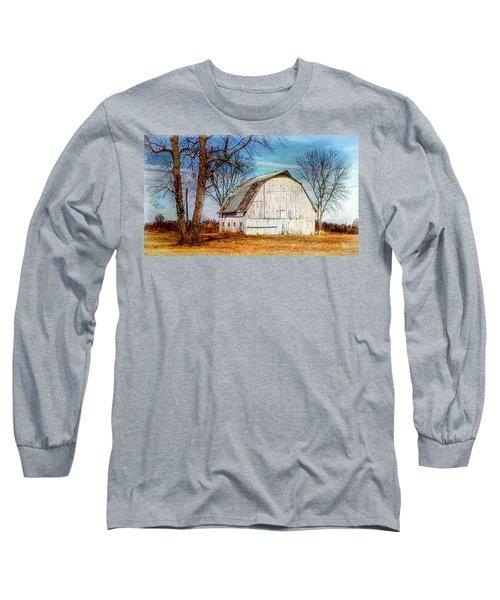 The White Barn Long Sleeve T-Shirt by Karen McKenzie McAdoo