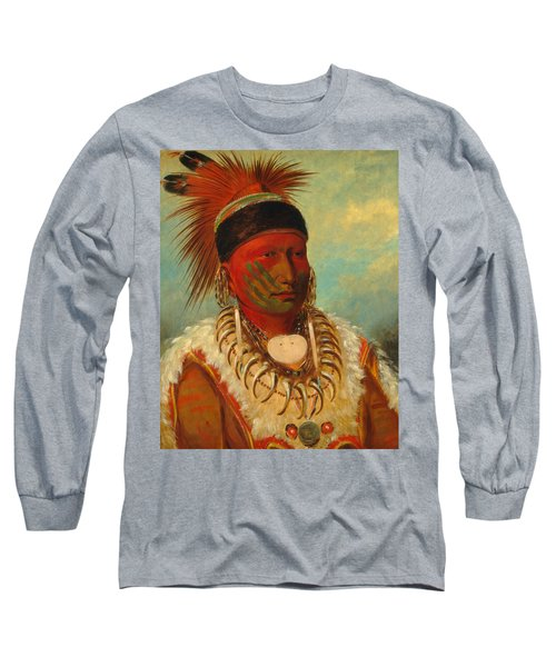 The White Cloud, Head Chief Of The Iowas Long Sleeve T-Shirt