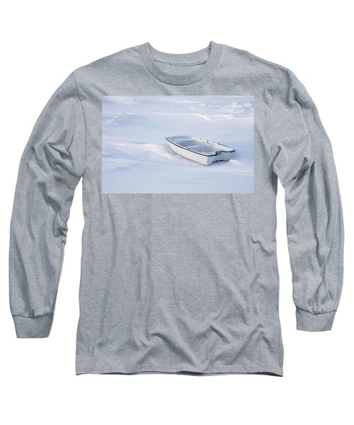 The White Fishing Boat Long Sleeve T-Shirt by Nick Mares