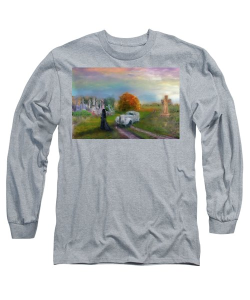 The Widow Long Sleeve T-Shirt by Michael Cleere