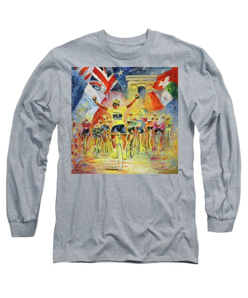 The Winner Of The Tour De France Long Sleeve T-Shirt