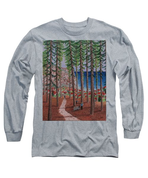 Long Sleeve T-Shirt featuring the painting The Wood Collectors by Hilda and Jose Garrancho