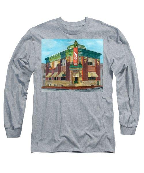 The Yellow Brick Bank Restaurant Long Sleeve T-Shirt by Lynne Reichhart