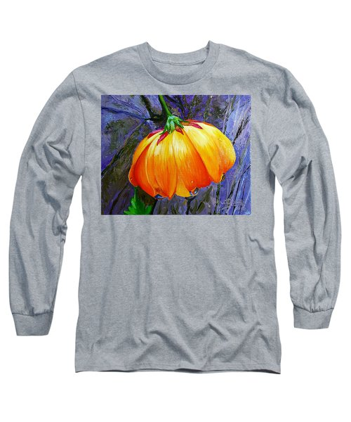 The Yellow Flower Long Sleeve T-Shirt by Janet Garcia