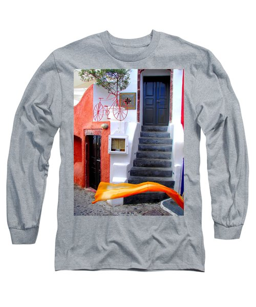 Long Sleeve T-Shirt featuring the photograph The Yellow Scarf by Ana Maria Edulescu