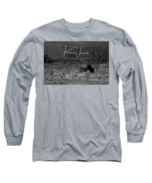 Long Sleeve T-Shirt featuring the photograph The Zebra Tree by Karen Lewis