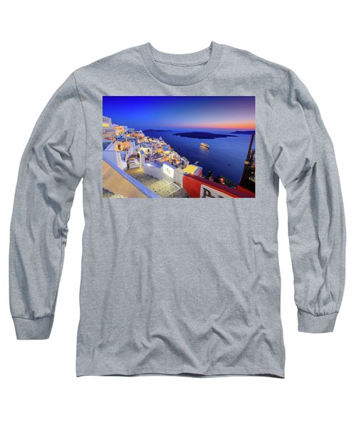 Thera Sunset  Long Sleeve T-Shirt