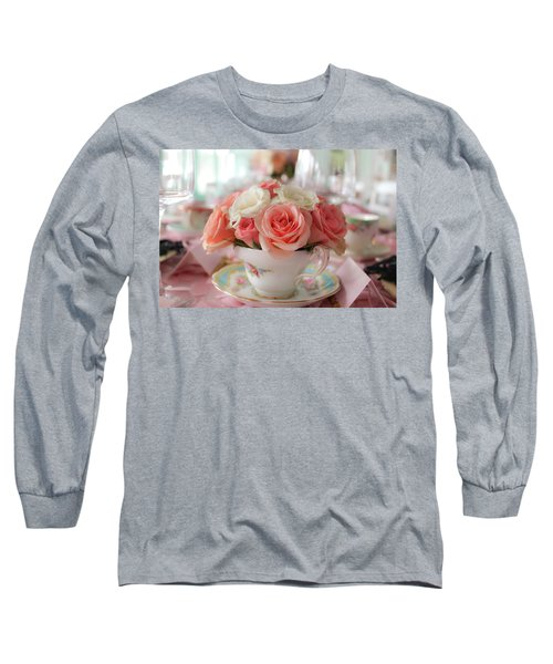 Teacup Roses Long Sleeve T-Shirt