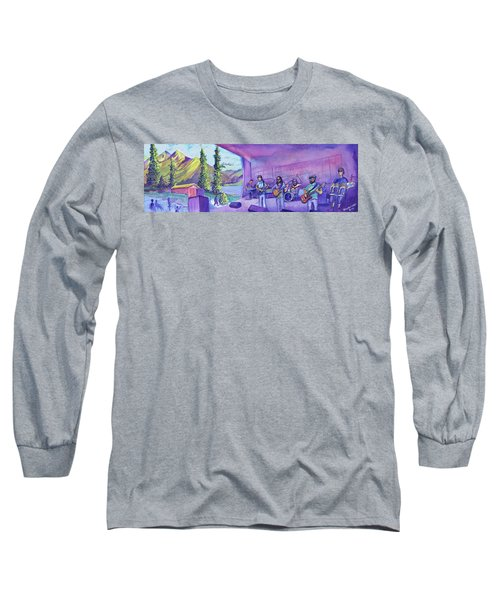 Long Sleeve T-Shirt featuring the painting Thin Air At Dillon Amphitheater by David Sockrider