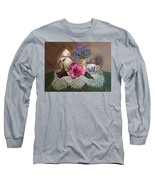 Thinking Of Tea  Long Sleeve T-Shirt