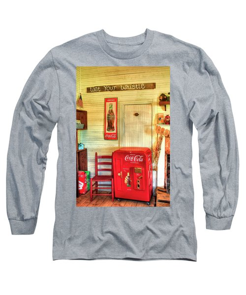 Thirst-quencher Old Coke Machine Long Sleeve T-Shirt by Reid Callaway