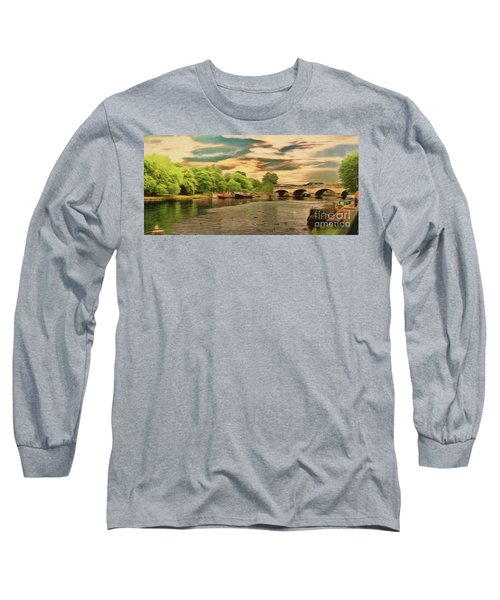 This Morning On The River Long Sleeve T-Shirt