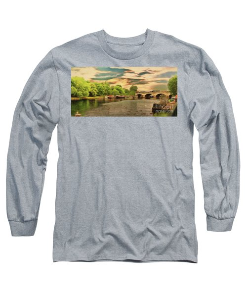 Long Sleeve T-Shirt featuring the photograph This Morning On The River by Leigh Kemp