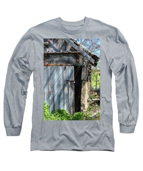 This Old Barn Door Long Sleeve T-Shirt by Kathy Kelly
