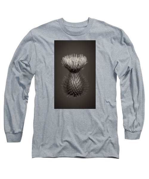 Thistle 3 Long Sleeve T-Shirt by Simone Ochrym