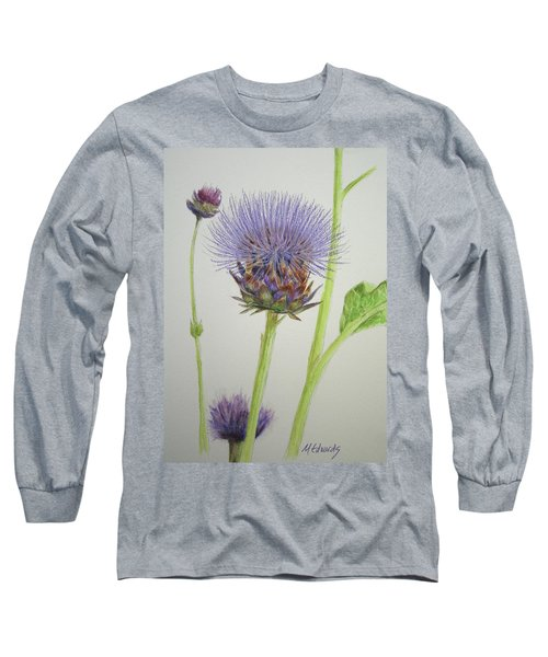 Thistles Long Sleeve T-Shirt by Marna Edwards Flavell