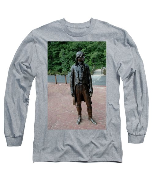 Thomas Jefferson At Monticello Long Sleeve T-Shirt