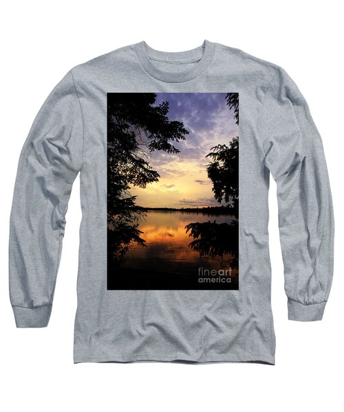 Long Sleeve T-Shirt featuring the photograph Thomas Lake Sunset 2 by Larry Ricker