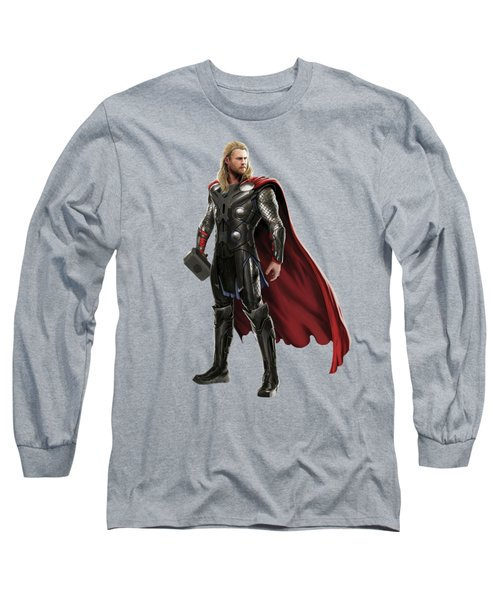 Long Sleeve T-Shirt featuring the mixed media Thor Splash Super Hero Series by Movie Poster Prints