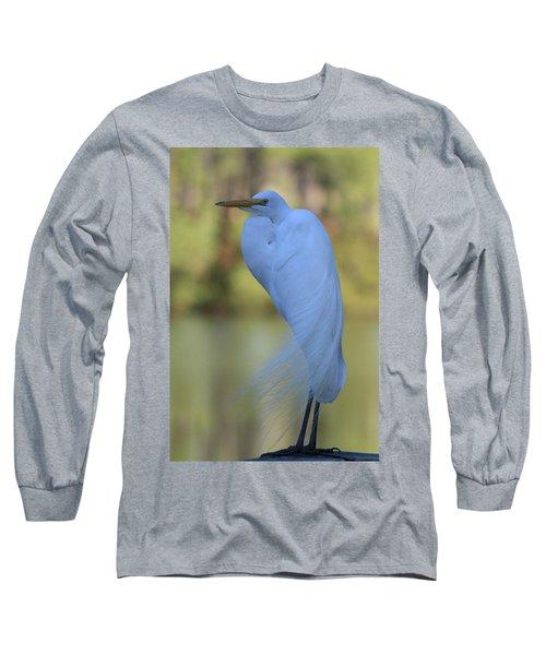 Thoughtful Heron Long Sleeve T-Shirt