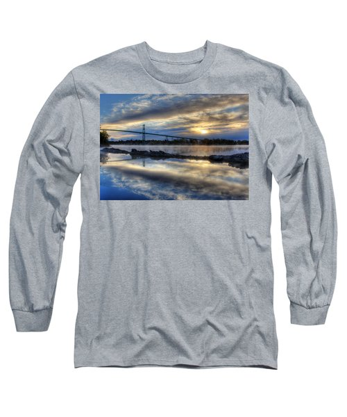 Thousand Islands Bridge Long Sleeve T-Shirt by Lori Deiter