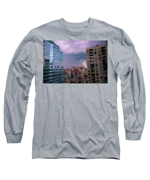 Long Sleeve T-Shirt featuring the photograph Threatening Storm - Manhattan - 2016 by Madeline Ellis