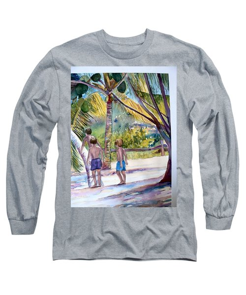 Three Boys Climbing Long Sleeve T-Shirt