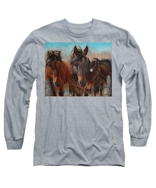 Three Curious Friends Long Sleeve T-Shirt