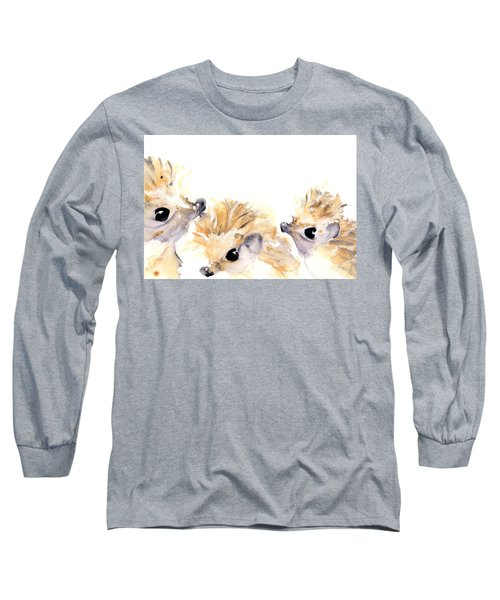 Three Hedgehogs Long Sleeve T-Shirt