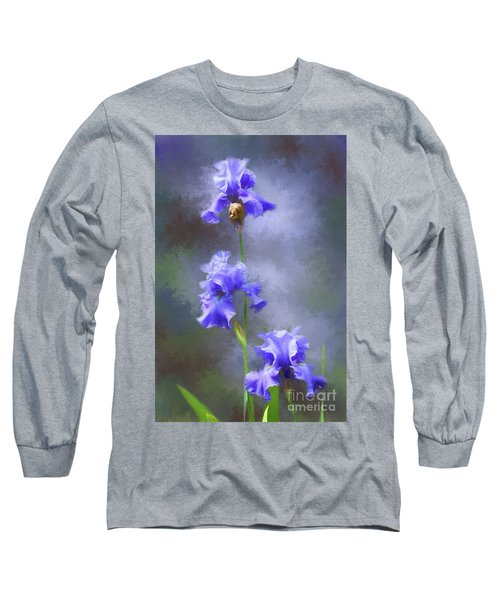 Three Iris Long Sleeve T-Shirt by Lena Auxier