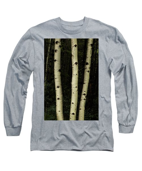 Long Sleeve T-Shirt featuring the photograph Three Pillars Of The Forest by James BO Insogna