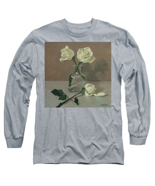 Two Roses In A Tequila Bottle Long Sleeve T-Shirt