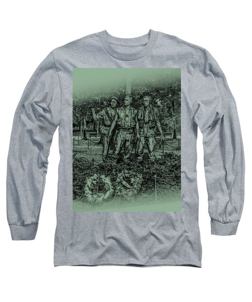 Long Sleeve T-Shirt featuring the photograph Three Soldiers Memorial by David Morefield