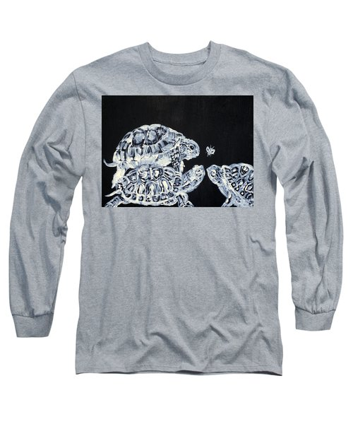 Long Sleeve T-Shirt featuring the painting Three  Terrapins And One Fly by Fabrizio Cassetta