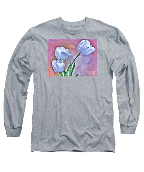 Three White Tulips Long Sleeve T-Shirt