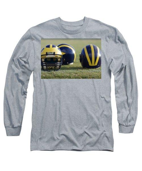 Three Wolverine Helmets Long Sleeve T-Shirt