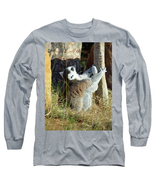 Through Christ Long Sleeve T-Shirt by Inspirational Photo Creations Audrey Woods